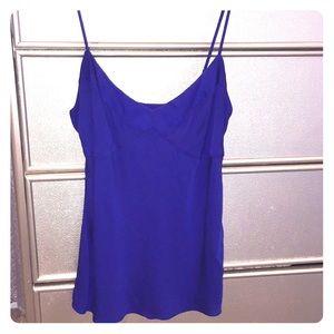 Diane Von Furstenberg Blue Silk Camisole Top 6